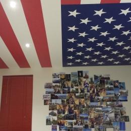 chambre plafond tendu imprimé