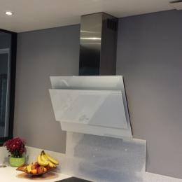 plafond cuisine avec hotte