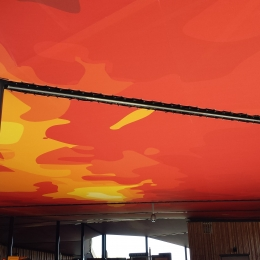 plafond imprimé VULCANIA