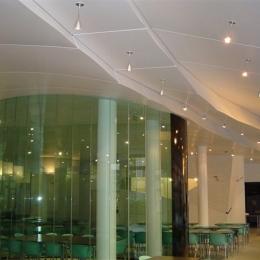 plafond acoustique en forme
