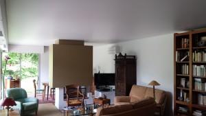 plafond tendu séjour