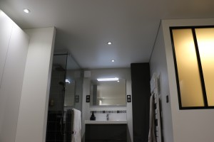 plafond salle de douche